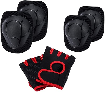Kids Knee Pad Set with Elbow and Gloves