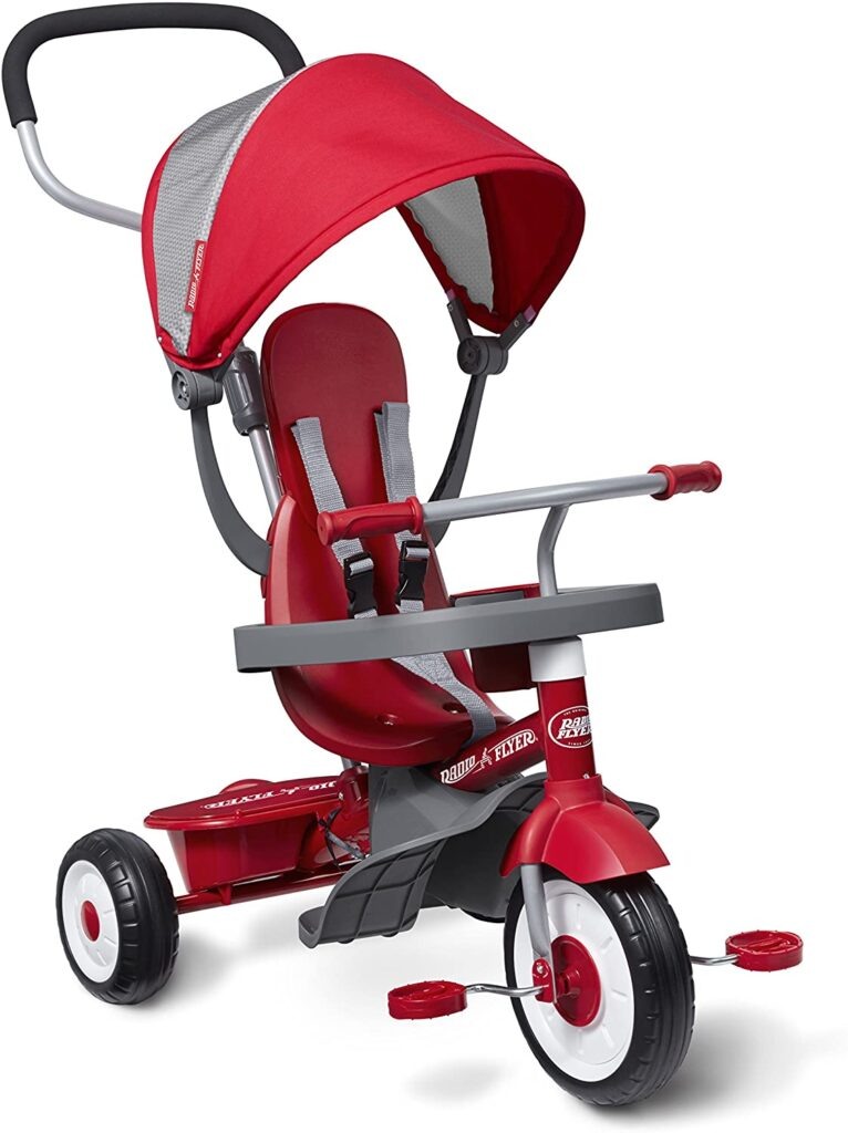 The Radio Flyer 4-in-1 Trike-Red