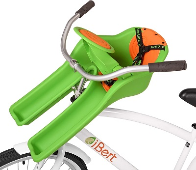 New Padded Wheel Front Baby seat in Green