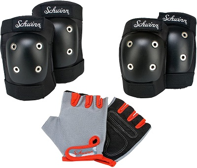 Pad Set with Knee Elbow and Gloves for kids