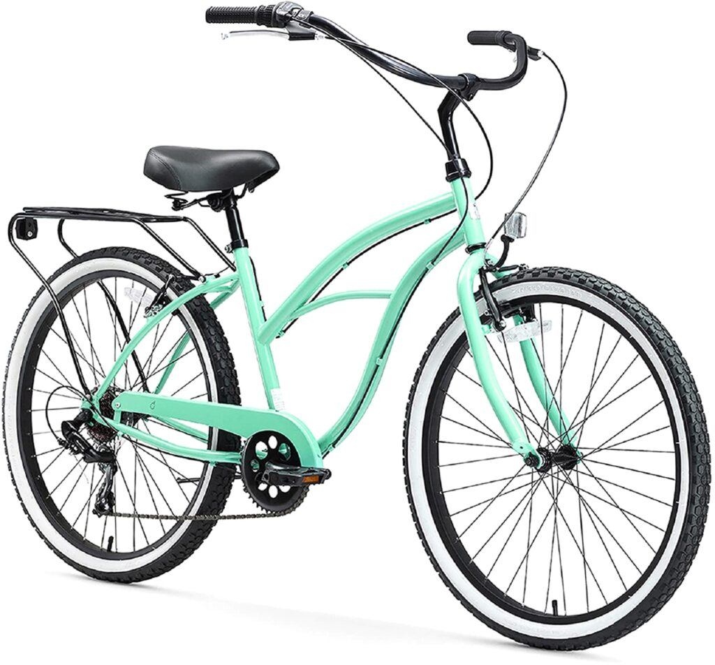 Sixthreezero Electric Bicycles Around The Block Womens Beach Cruiser Bicycle